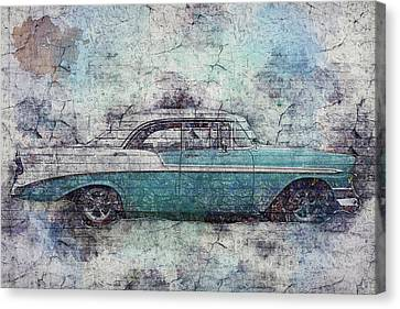 Canvas Print featuring the photograph Chevy Bel Air by Joel Witmeyer