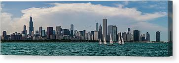 Canvas Print featuring the photograph Chicago Skyline by Joel Witmeyer