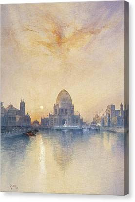 Chicago Worlds Fair Canvas Print by Thomas Moran