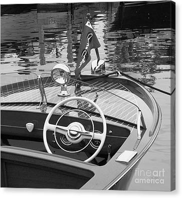 Wooden Boat Canvas Print - Chris Craft Sportsman by Neil Zimmerman