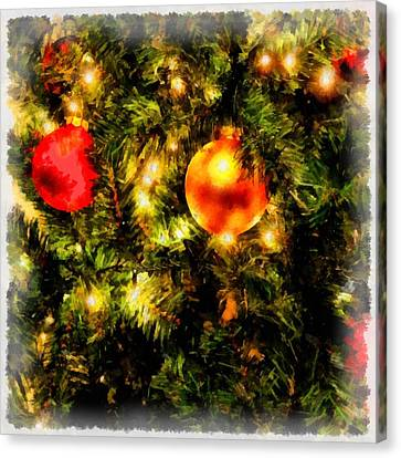 Nativity Canvas Print - Christmas Decorations by Esoterica Art Agency