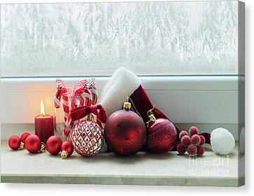Christmas Windowsill Canvas Print by Anastasy Yarmolovich