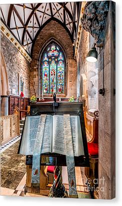 Memorial Canvas Print - Church Interior by Adrian Evans