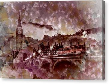 City-art London Westminster Bridge At Sunset Canvas Print