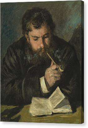 Claude Monet Canvas Print by Pierre Auguste Renoir