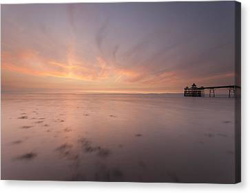 Clevedon Sunset Canvas Print by Don Hooper