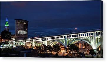 Cleveland After Dark Canvas Print