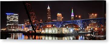 Cleveland Panorama Canvas Print by Frozen in Time Fine Art Photography