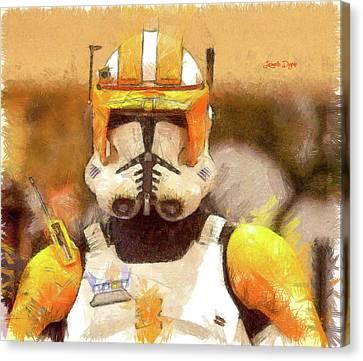 Clone Trooper Commander Canvas Print by Leonardo Digenio
