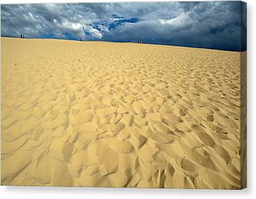 Clouds Over The Great Dune Of Pyla On The Bassin D'arcachon Canvas Print by Sami Sarkis
