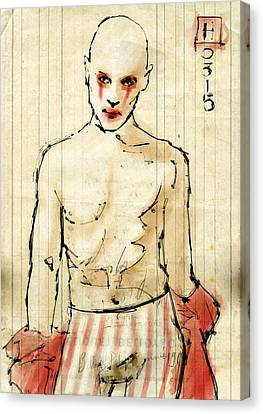 Sideshow Canvas Print - Clown by H James Hoff