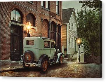 Canvas Print featuring the photograph Cobblestone Streets by Robin-Lee Vieira