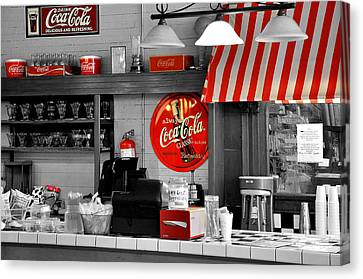Vintage Trains Canvas Print - Coca Cola by Todd Hostetter