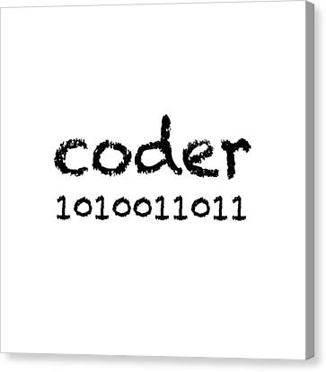 Coder Canvas Print