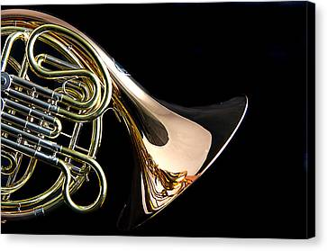 Color French Horn Canvas Print by M K  Miller