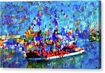 Colors Of Gasparilla Canvas Print by David Lee Thompson
