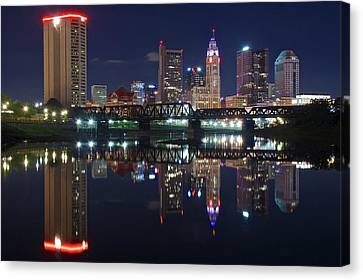 Columbus Ohio Canvas Print by Frozen in Time Fine Art Photography