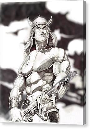 Conan The Barbarian Canvas Print by Bill Richards