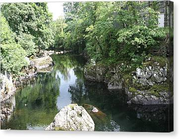 Conwy River Near Betws Y Coed.  Canvas Print by Christopher Rowlands