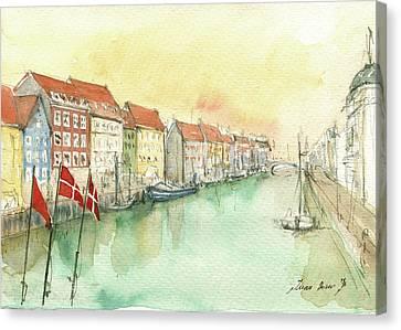 Copenhagen Canvas Print by Juan Bosco