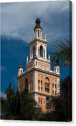 Canvas Print featuring the photograph Coral Gables Biltmore Hotel Tower by Ed Gleichman