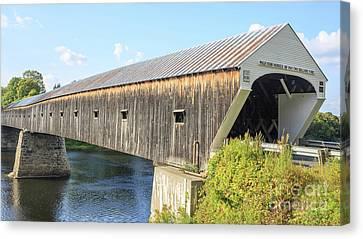 Cornish-windsor Covered Bridge Canvas Print by Edward Fielding