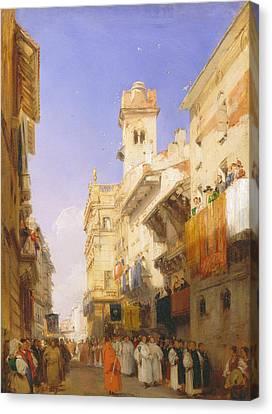 Corso Sant'anastasia, Verona Canvas Print by Richard Parkes Bonington
