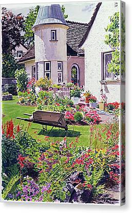 Canvas Print - Country House by David Lloyd Glover