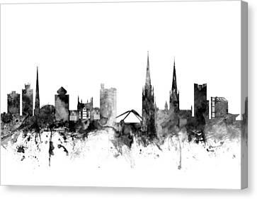 Coventry England Skyline Canvas Print
