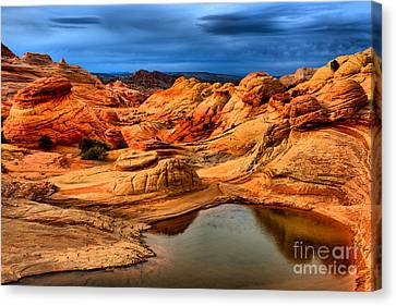 Coyote Buttes Reflections Canvas Print by Adam Jewell