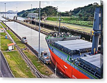 Crossing Panama Canal Canvas Print by Tatiana Travelways