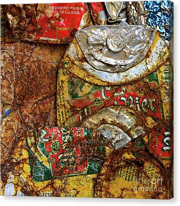 Crushed Beer Cans. Canvas Print by Bernard Jaubert