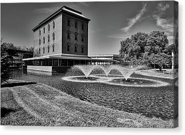 Cummins Cerealine Building - Columbus Indiana Canvas Print by L O C