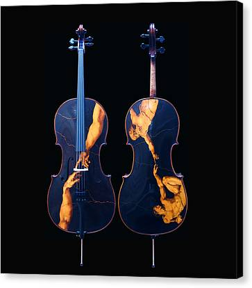 Custom Gliga Cello Canvas Print by Dino Muradian
