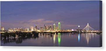 Dallas Skyline Twilight Canvas Print by Jonathan Davison