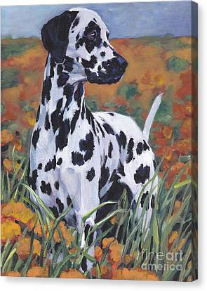 Canvas Print featuring the painting Dalmatian by Lee Ann Shepard