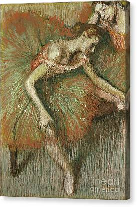 Stretched Canvas Print - Dancers by Edgar Degas