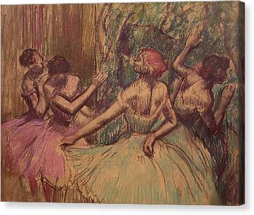 Dancers In The Wings Canvas Print