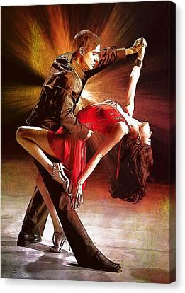 Dance Canvas Print - Dance.tango. by Elena Kosvincheva