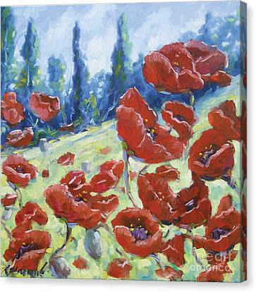 Dancing Poppies Canvas Print by Richard T Pranke