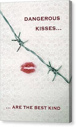 Pointy Canvas Print - Dangerous Kisses by Joana Kruse