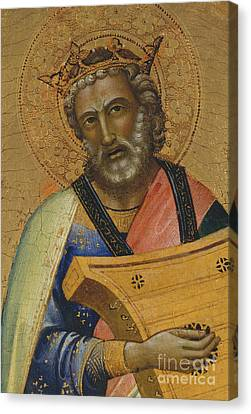 Judaic Canvas Print - David by Lorenzo Monaco