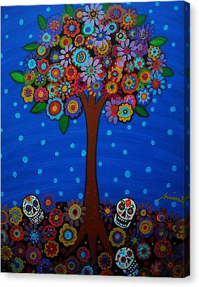 Day Of The Dead Canvas Print by Pristine Cartera Turkus