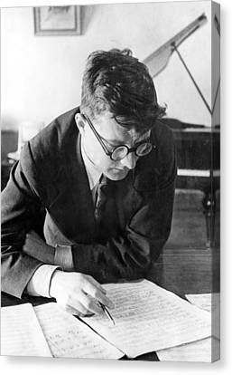 Thinking Canvas Print - Dimitri Shostakovich,  Russian Composer by Everett