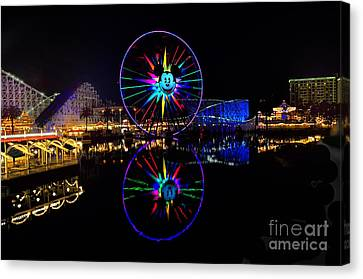Disney California Adventure Mickey's Fun Wheel Canvas Print by Peter Dang