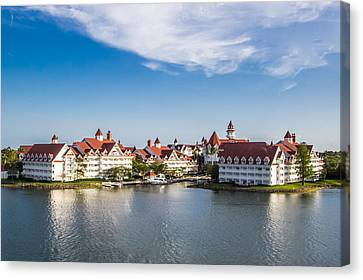 Disney's Grand Floridian Resort And Spa Canvas Print by Sara Frank