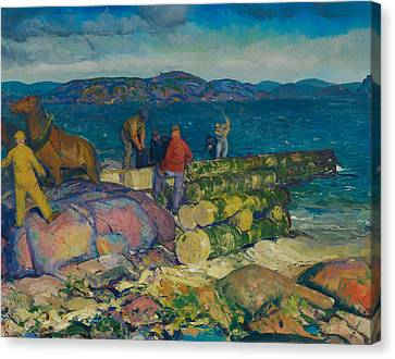 Dock Builders Canvas Print