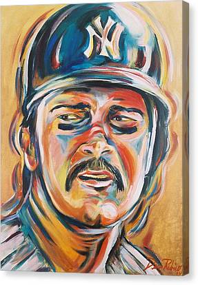 Don Mattingly Canvas Print by Redlime Art