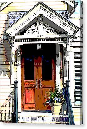 Door Series Canvas Print by Ginger Geftakys