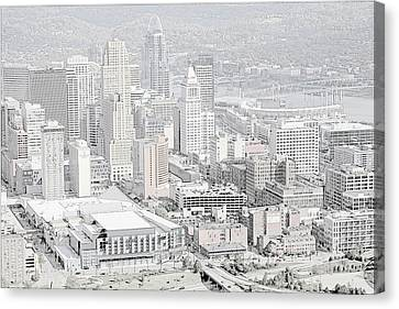 Downtown Cincinnati Canvas Print